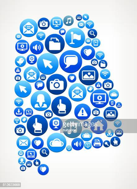 alabama technology internet and media blue button pattern - mobile alabama stock illustrations, clip art, cartoons, & icons