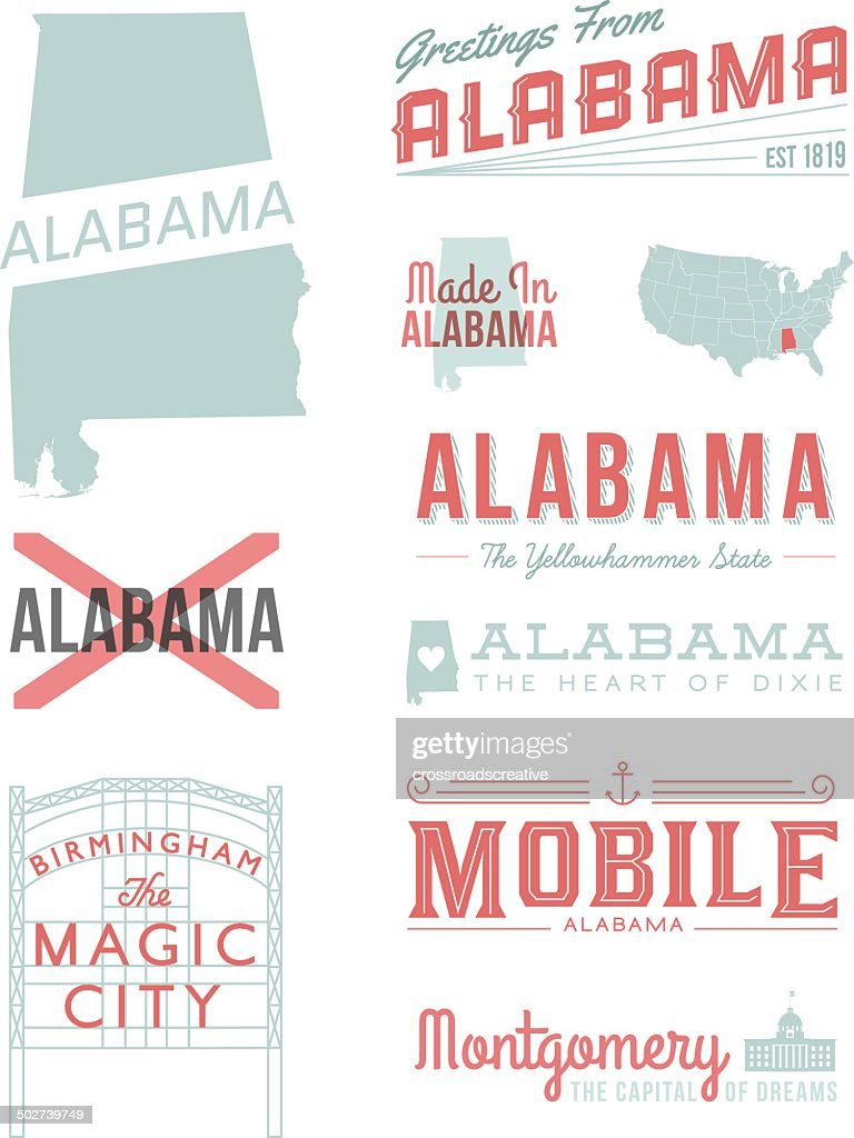 Alabama Typography : stock illustration
