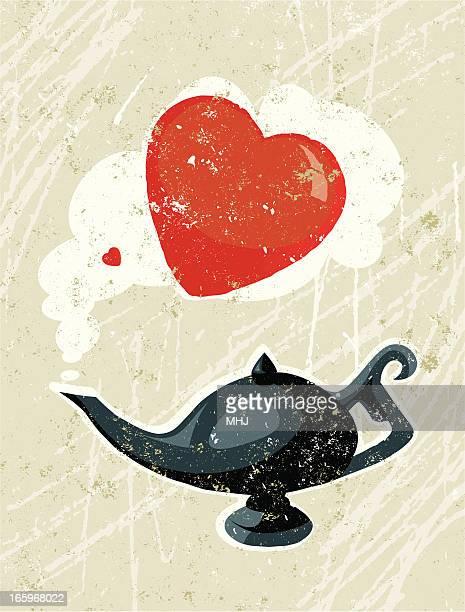 Lâmpada de Aladdin e Coração