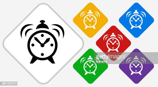 Alarm Clock Color Diamond Vector Icon