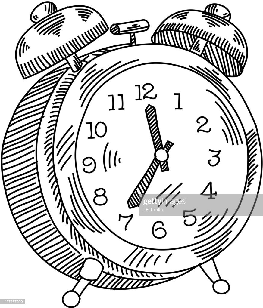 alarm clock drawing vector art getty images Alarm Clock Please alarm clock drawing vector art