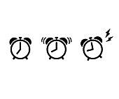 Alarm Clock Flat Vector Icon.