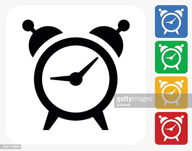 Alarm Clock Icon Flat Graphic Design