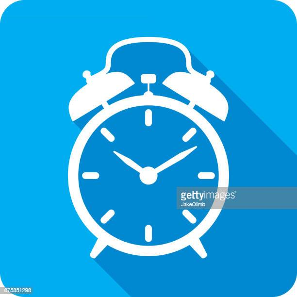alarm clock icon silhouette - patience stock illustrations