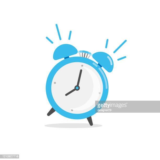illustrations, cliparts, dessins animés et icônes de icône d'horloge d'alarme. wake up time vector design sur le fond blanc. - morning