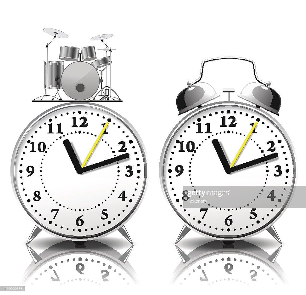 Alarm clock set in a retro style.