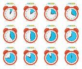 Alarm Clock - Time Countdown Vector Set