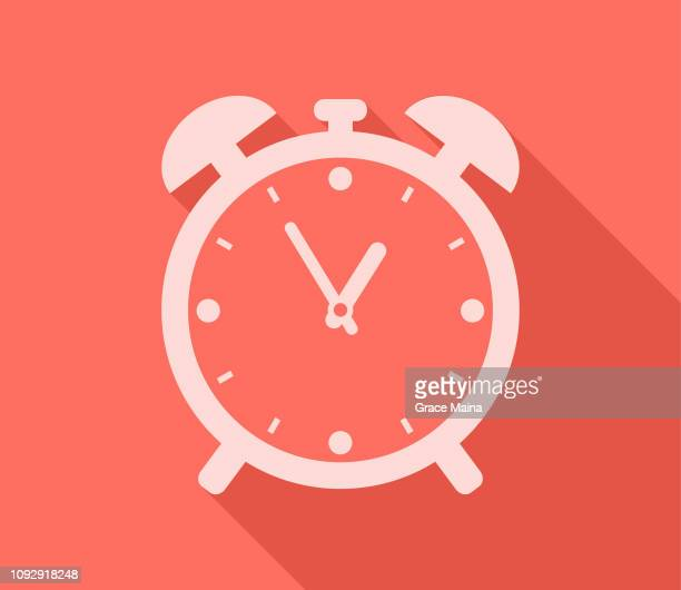 alarm clock timer showing time - alarm clock stock illustrations