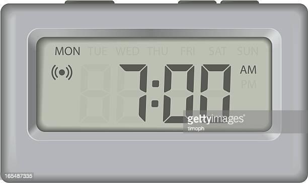 ilustrações de stock, clip art, desenhos animados e ícones de despertador com dias - acordar