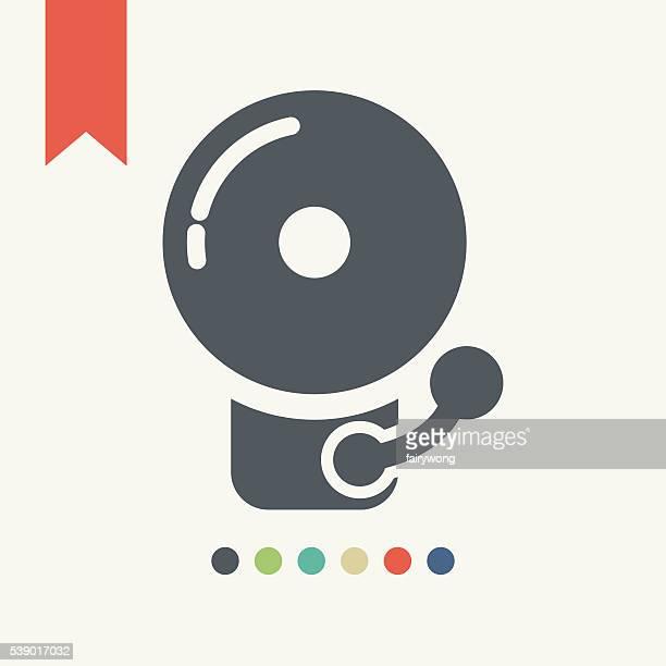 警告アイコン - 警報機点のイラスト素材/クリップアート素材/マンガ素材/アイコン素材