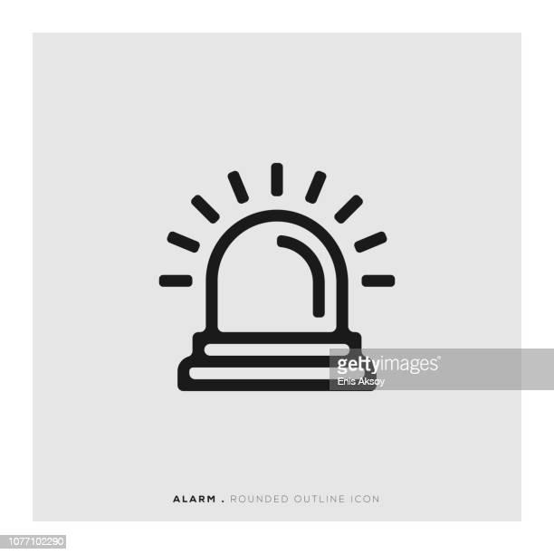 ilustrações de stock, clip art, desenhos animados e ícones de alarm rounded line icon - acordar