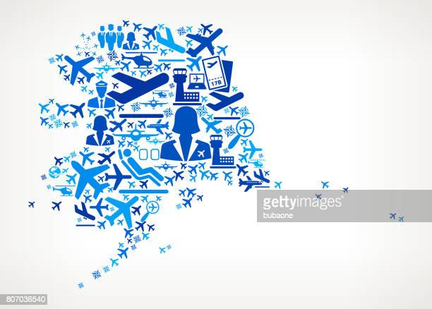 Alaska Aviation and Air Planes Vector Graphic