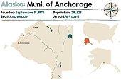 Alaska map of Municipality of Anchorage