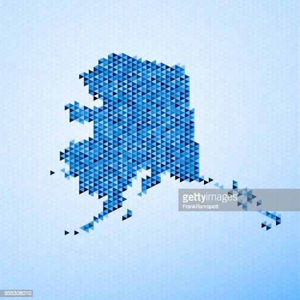 Alaska Karte Dreieck Muster Blau