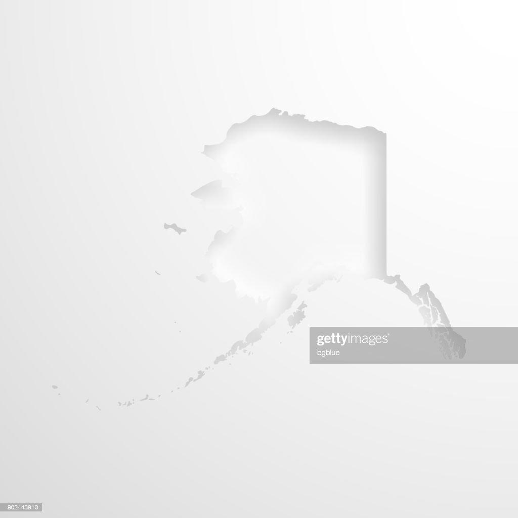 Blank Alaska Map.Alaska Map With Embossed Paper Effect On Blank Background Vector Art