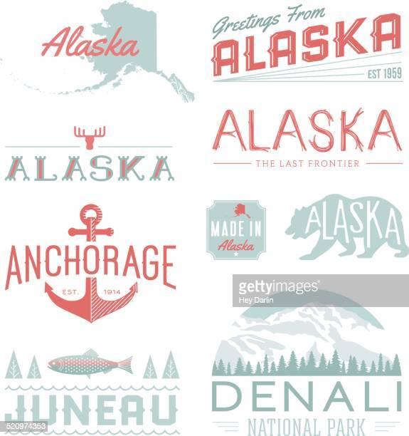 アラスカタイポグラフィー - アラスカ点のイラスト素材/クリップアート素材/マンガ素材/アイコン素材