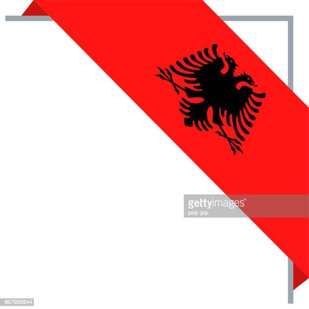 Albania - Bookmark Corner Flag Vector Flat Icon