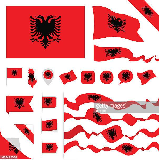Albania Flag Set