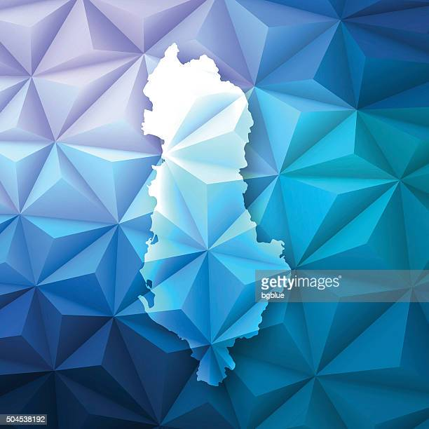 Albania on Abstract Polygonal Background - Low Poly, Geometric