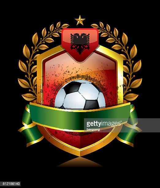 Albania calcio icona con corona di alloro