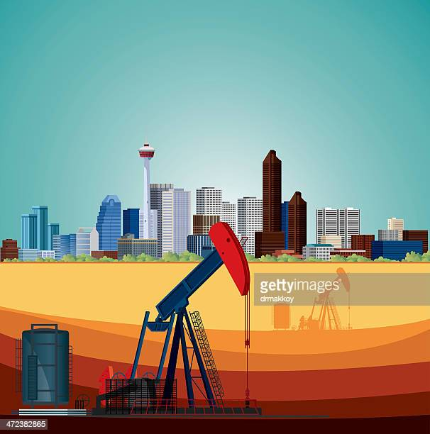 alberta, oil industry - oil pump stock illustrations, clip art, cartoons, & icons