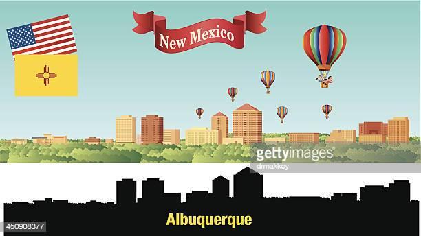 albuquerque city - new mexico stock illustrations