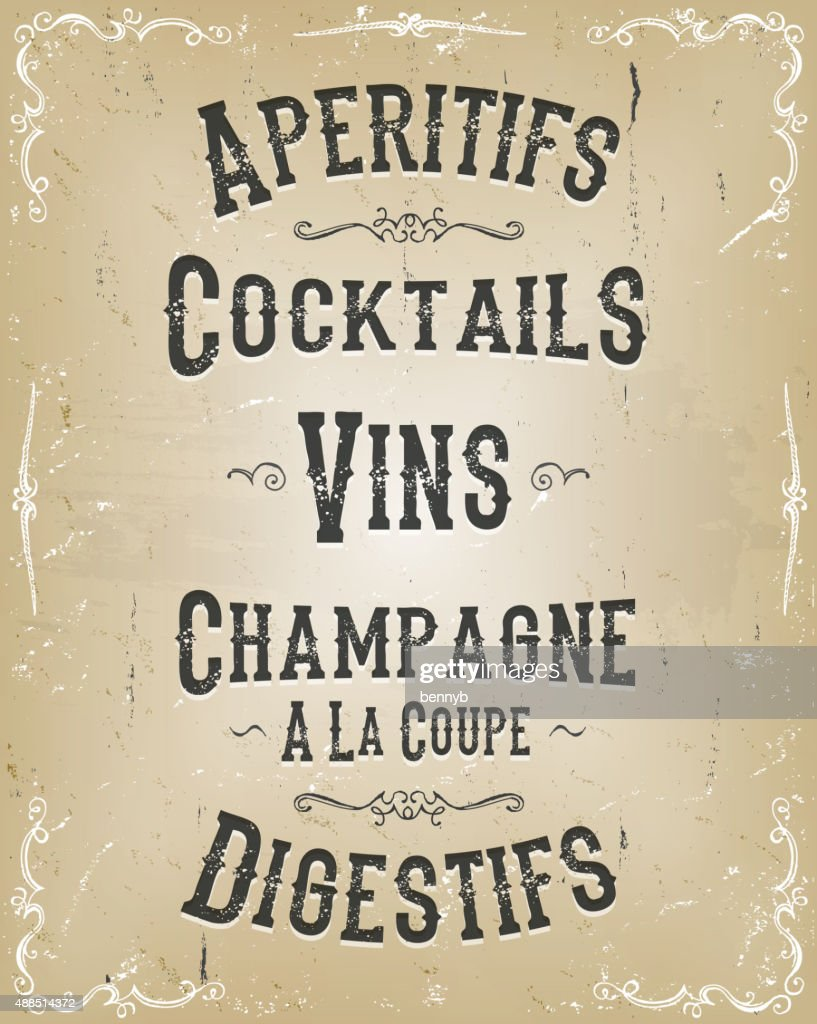 Alcohol And Beverage Poster Menu
