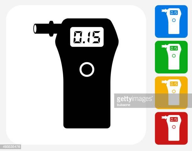 Alcohol Detector Icon Flat Graphic Design