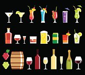 Alcohol drink icons