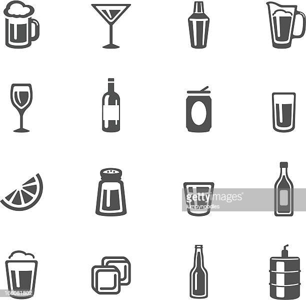 stockillustraties, clipart, cartoons en iconen met alcohol icons - food and drink