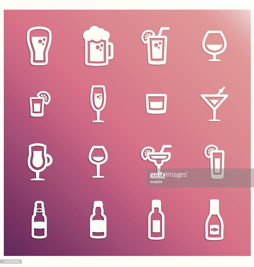 Alcohol Icons : stock illustration