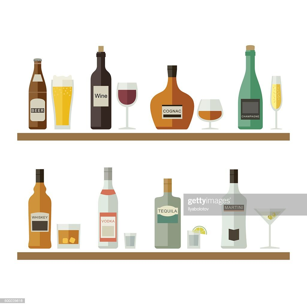 Alcoholic beverages and drinks.