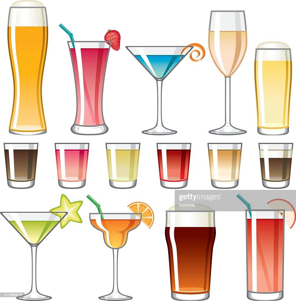 Alcoholic Drinks Icon Set Stock Illustration Getty