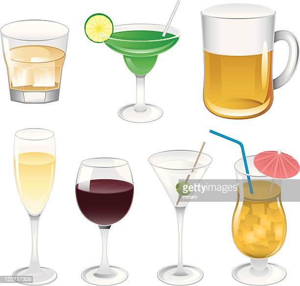 alcoholic drinks illustrations - margarita stock illustrations, clip art, cartoons, & icons