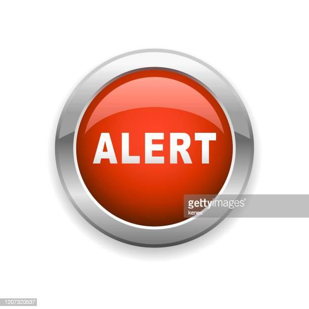 alert glossy icon - alertness stock illustrations