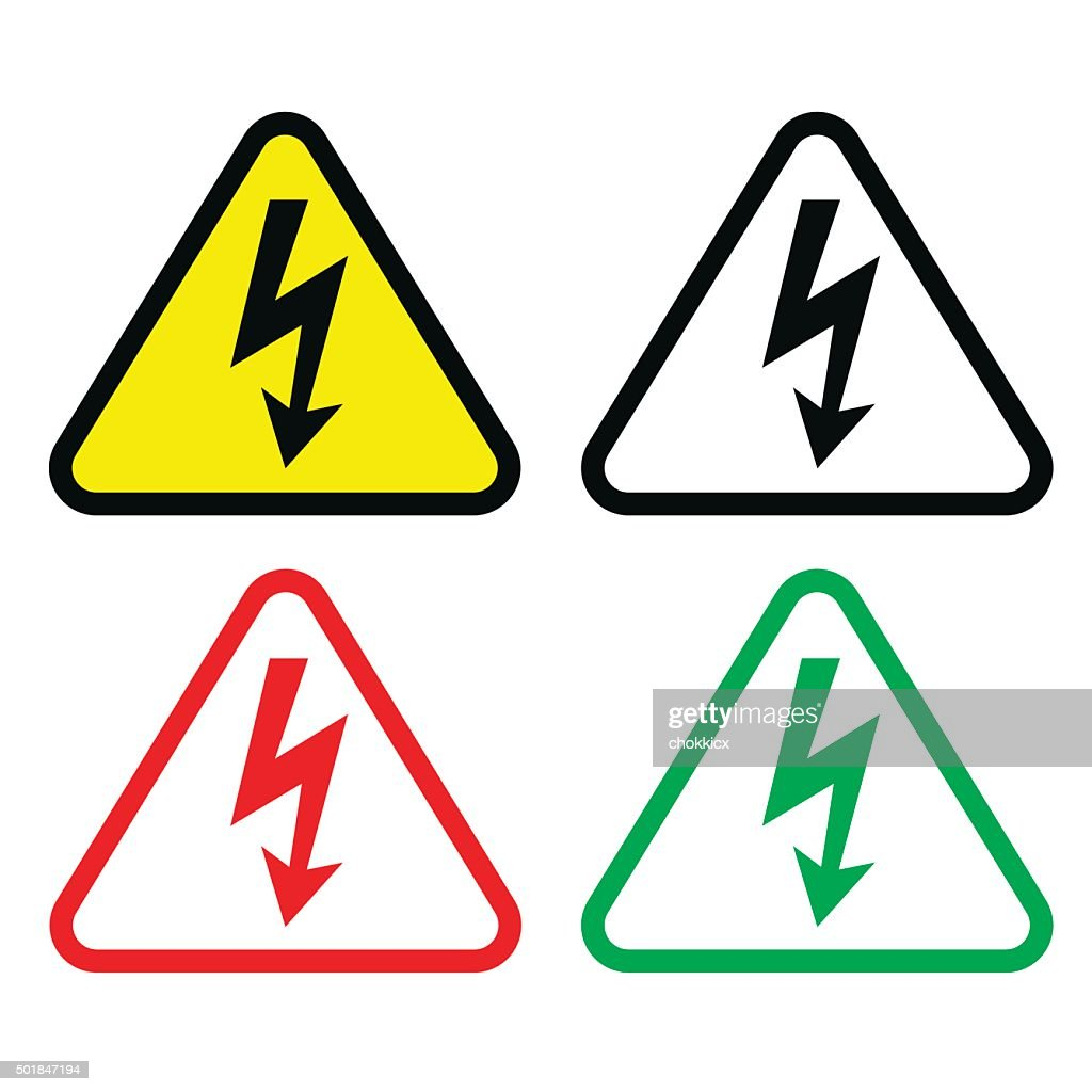Alert Or Caution Triangle Symbol Set Vector Art Getty Images
