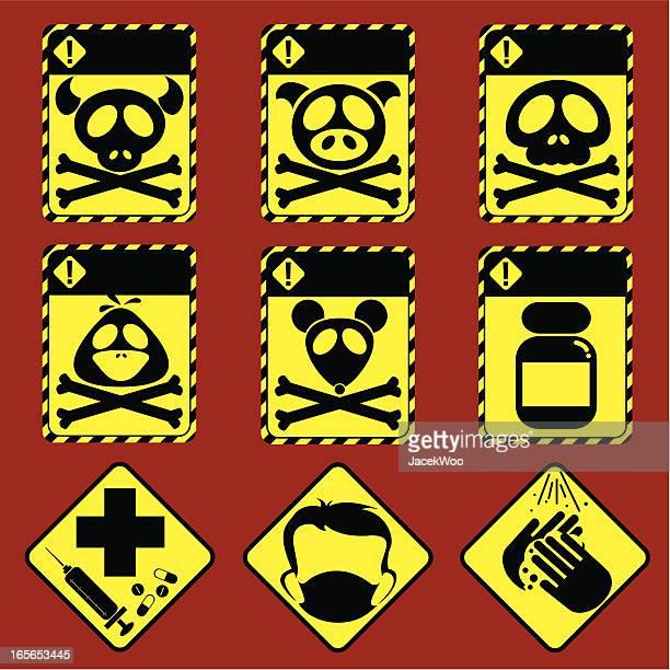 alert! - gift hand stock-grafiken, -clipart, -cartoons und -symbole