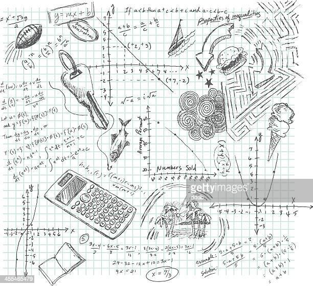 Algebra Class Daydream Doodle