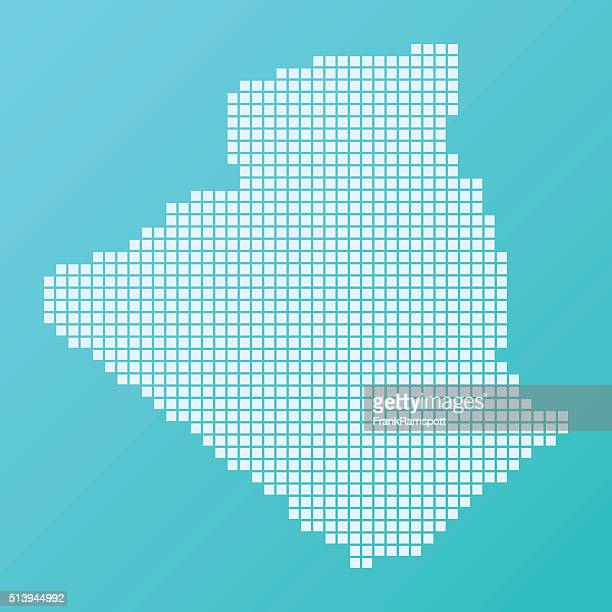 ilustraciones, imágenes clip art, dibujos animados e iconos de stock de argelia mapa pies patrón de fondo turquesa - frank ramspott