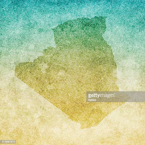ilustraciones, imágenes clip art, dibujos animados e iconos de stock de argelia mapa sobre fondo grunge de lona - geografía física