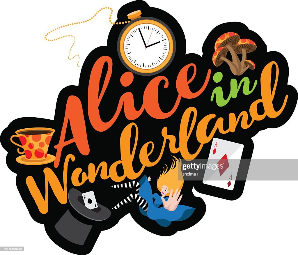 Alice text design. EPS 10 vector.