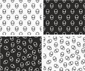 Alien Aligned & Random Seamless Pattern Set