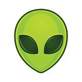 Alien face illustration