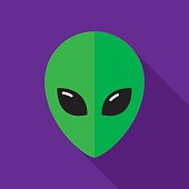 Alien Icon Flat