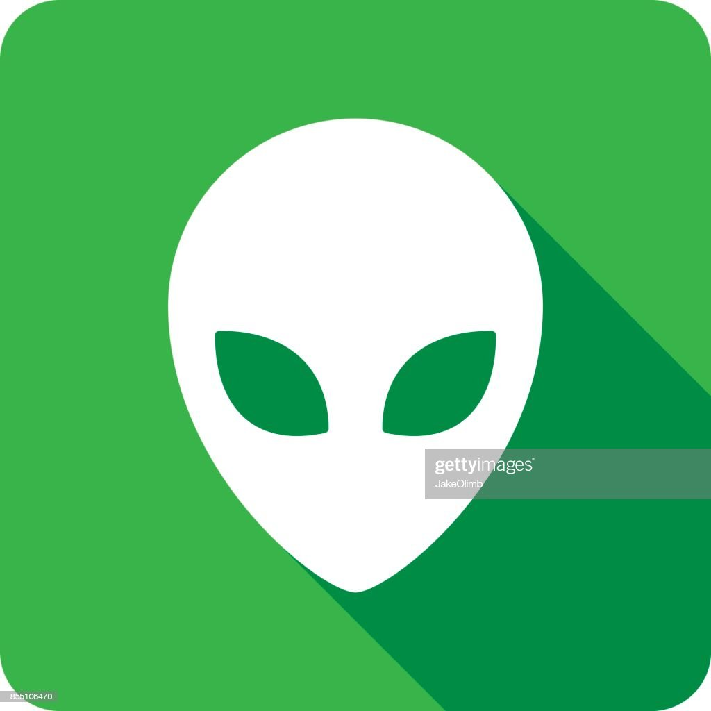 Alien Icon Silhouette