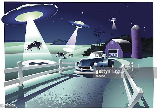 illustrations, cliparts, dessins animés et icônes de alien invasion - extraterrestre