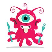 Alien - Monster or Bacillus Vector Illustration