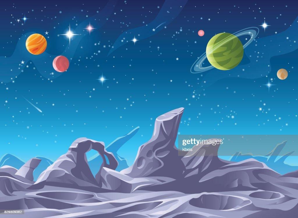 Alien Planet Surface : stock illustration