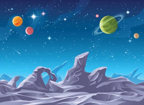 alien planet surface - fantasy stock illustrations