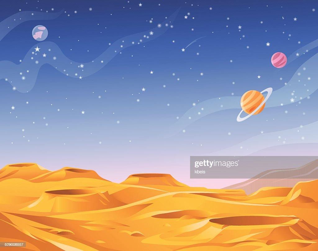 Alien Planeten : Stock-Illustration